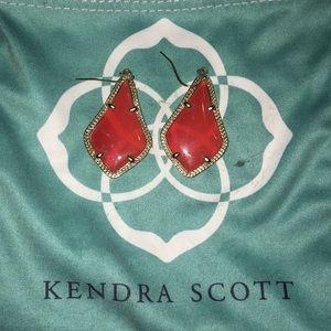 Kendra Scott Red Alex Earrings
