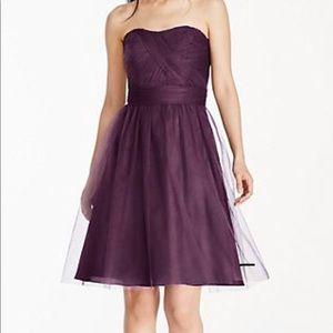 David's Bridal Strapless Tulle Dress
