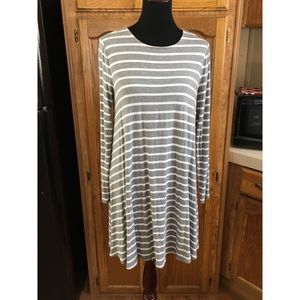 Old Navy Striped T-Shirt Dress Size Large