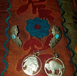 Jewelry - Two pair of Native American earrings #180