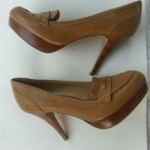 Nine West Tea colored Heels