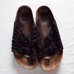 Birkenstock Basic Newalk Black Slide Clogs