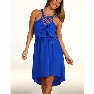 Fits 2/4/6 Rebecca Taylor Silk Hi-Lo Halter Dress