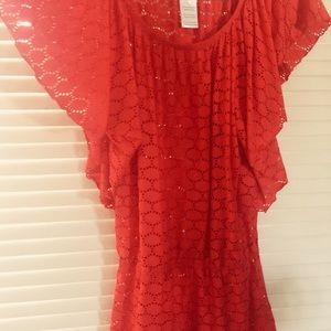 Jessica Simpson Red Shirt Size Large