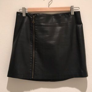 Silence + Noise Mini Skirt with Zipper - Size M