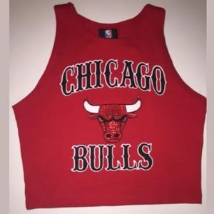 Forever 21 Chicago Bulls Crop Top S