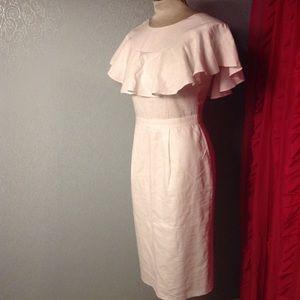 white linen ASOS flutter sleeve dress 4 (D5)