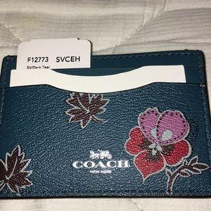 NWT Coach Wildflower Card Case F12773