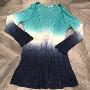 Anthropologie MOTH long ombré sweater