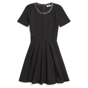 Madewell leather trim dress