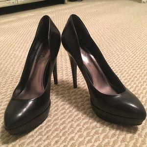 GUESS Black Leather Platform Heels/ Size 8.5