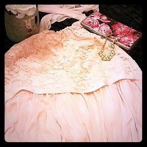 David's Bridal Petal Pink Bridesmaid Dress