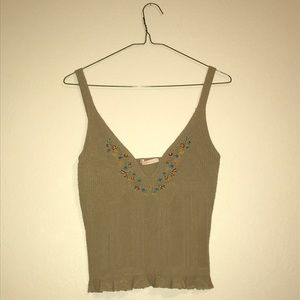 F21 Tan Knit Top