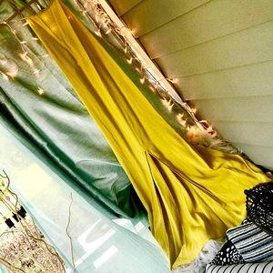 Yellow Razorback maxi dress