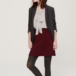 LOFT Maroon Flippy Skirt- Holiday Party Must! NWT