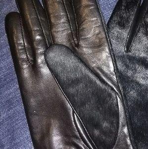 Banana Republic Leather/Calf Hair GLOVES
