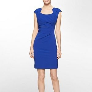 Calvin Klein Blue Ruched Sheath Dress 20w
