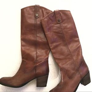 Barely Worn Vince Camuto Cognac Leather Boot 8.5