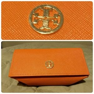 Tory Burch Orange Sunglass Case