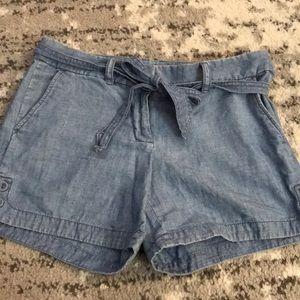 J. Crew Chambray Waist Tied Shorts Size 4