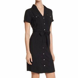 White House Black Market Cap Sleeve Shirt Dress 0
