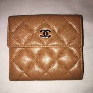 Authentic Chanel Women's Bifold Coin Wallet