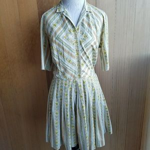 Vintage Golfer pleated mini dress