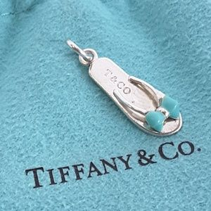 Tiffany & Co Blue Enamel Flip Flop Sandal Charm