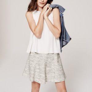 LOFT Tweed Flippy Skirt NWOT