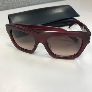Authentic Saint Laurent Bold 1 Red Sunglasses