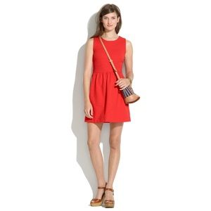 Madewell afternoon dress in red