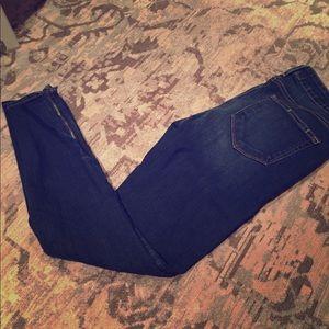 Paige Denim Skinny Zipper Ankle Jean