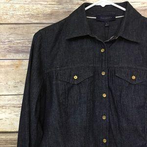 Talbots Button Down Denim Dress Shirt