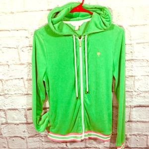 Lilly Pulitzer terry cloth jacket. Pre-loved w/TLC
