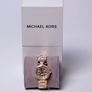 Michael Kors women's chronograph gold plated watch