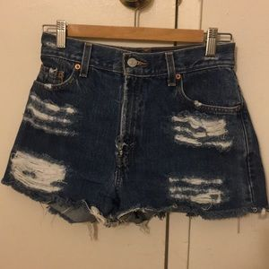 Levi's high wasted shorts