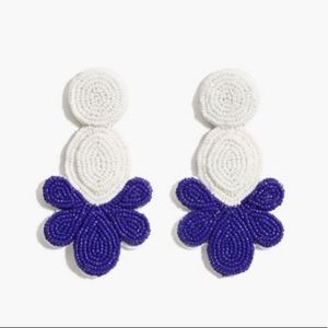 NWT Beaded fan earrings J.Crew
