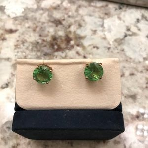 Kate Spade Green Gemstome Earrings