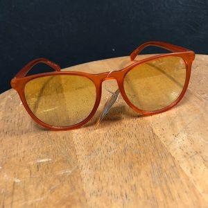 Golden Yellow Amber Fashion Glasses Sunglasses