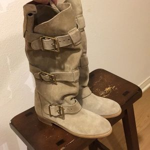 Burberry Desert Suede Belted Boots