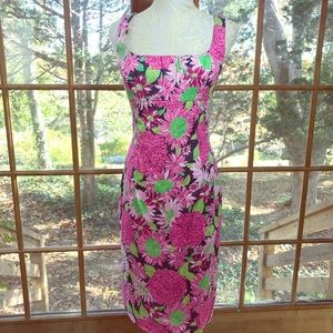 Vintage Lilly Pulitzer Floral Sheath Dress Size 8