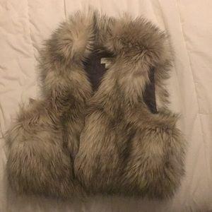 Loft, fur vest. Worn once