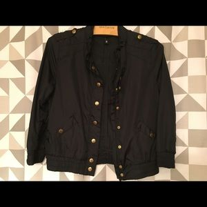 H&M black members only, light weight jacket