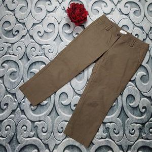 LOFT Marisa Capri Pants Brown Size 8