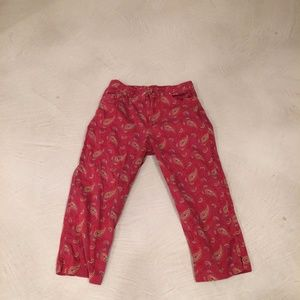 RALPH LAUREN RED PATTERNED JEANS SIZE 10