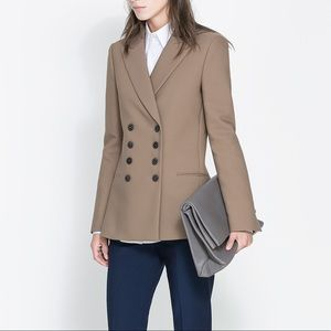 Zara double breasted blazer/coat
