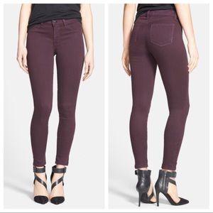J Brand Super Skinny Jeans (Dark Plum)