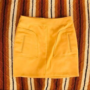 Alythea mustard thick knit mini skirt