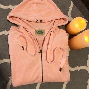 [Juicy Couture] Baby pink terri cloth hoodie.