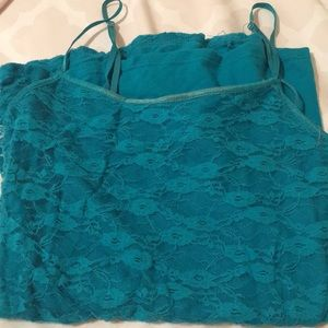 Turquoise Lace Camisole
